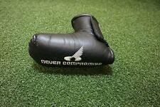 Never Compromise Black Silver Blade Golf Putter Headcover Head Cover Good
