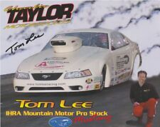 2001 Tom Lee signed Mountain Motor Ford Mustang Pro Stock IHRA postcard