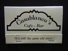 CASABLANCA'S CAFE BAR 55 BARKLY ST MORNINGTON 059 759988 MATCHBOOK