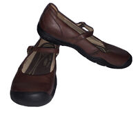 Keen Delancey CNX Mary Jane Shoes Sz 8 Brown Leather
