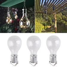 LED Solar Wasserdicht Birne Lampe Licht Glüh-Birne Hängeleuchte Light Bulb Neu