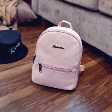 Women PU Leather Backpacks Mini Cute Travel Rucksack Handbags School Bag Simple