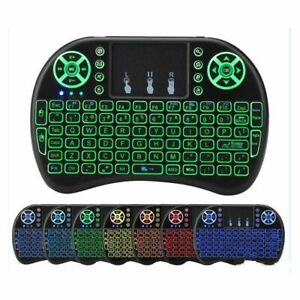 Mini Wireless Keyboard Backlit English Russian French Spanish Touchpad Android
