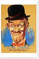 Stan Laurel Circa 1938 MGM Celebrity Movie Poster