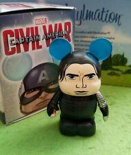 "Disney Vinylmation 3"" Park Set 1 Captain America Civil War Winter Soldier w Box"