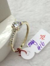 SOLID 14K Italy Gold Engagement Ring - Size 7.5 /  1.6g