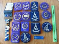 Free Masons New York F&AM Fraternal Chapter Vintage patches and Lapel Pins 90's