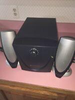 Altec Lansing ADA745 speaker system with subwoofer