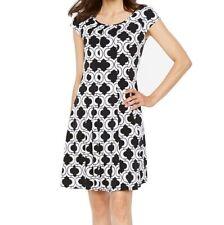 Ronni Nicole Short Sleeve Geometric Shift Dress- Petites XL PXL