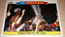 CARD SCORE 1993 COPPA UEFA 91/92 AJAX CALCIO FOOTBALL SOCCER ALBUM