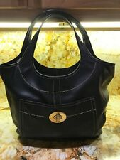 Coach XL Black Ergo Legacy Glove Leather Hobo Shoulder Bag EUC