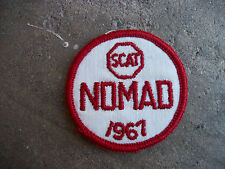 vintage 1967 SCAT NOMAD Sports Car Club racing rally patch 3
