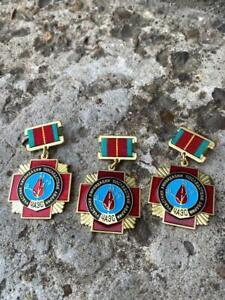 Soviet Russian Chernobyl liquidator 1986 Original USSR Badge