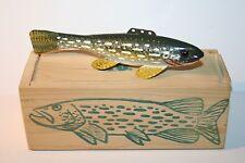 "CARL CHRISTIANSEN - FISH DECOY - ORIGINAL BOX - SIGNED - 5"" LONG - PIKE"