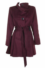 Madden Girl Faux Leather Trim Trench Coat Burgundy Size L
