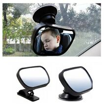 Car Baby Safety Observation Mirror 360 Degrees Suction Cup or Clip On Visor Rear