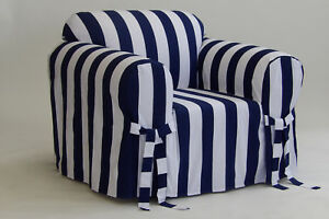 100% Cotton modern Stripe Arm Chair  in 5 COLORS