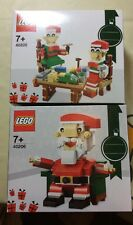 Lego 2016 Christmas Holidays 40206 Santa  + 40205 Little Elf Helpers Brand New