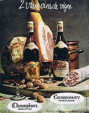 PUBLICITE ADVERTISING 025 1965 CRAMOISAY CHAMPLURE grand vin tuilé et velouté