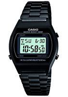 Mens Casio Retro Illuminator Digital Stainless Steel Watch Black B640WB-1AEF New