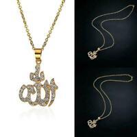 Arabic Muslim Women 18K Gold Plated Islamic God Allah Jewelry Pendant Neckl P6E8