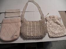 Lot of 4 Pieces Vintage Ladies Beaded Purses Hand Bags Retro Mid Century