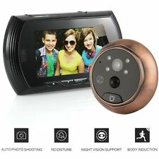 "4.3"" TFT LCD Visual Monitor Door Peephole Peep Hole Wireless Viewer Camera Video"