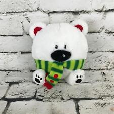 American Greetings Teddy Bear Plush White Round Winter Scarf Stuffed Animal Toy