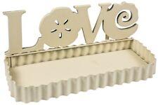 LOVE Flower White Metal Hall Bed Bath Accessories Toiletries Storage Wall Shelf