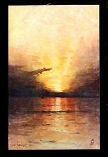 Seascape Tuck Aquarette #6268 artist George Ricard-Cordingley PPC ref1