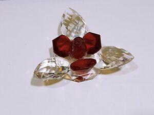 Crystal home art decor red swamp flower natural austrian crystal