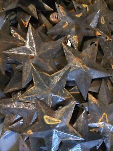 """Lot 50 Rusty Black Barn Stars 2.25 in 2 1/4"""" Primitive Country Rust Craft Supply"""