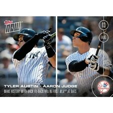 2016 Topps Now #351 Aaron Judge Tyler Austin New York Yankees  Print Run: 5,250