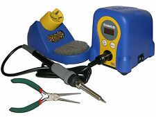 "Hakko FX888D-23BY Digital Soldering Station w/ Velleman VT046 6"" Needle Pliers"