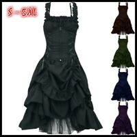 Victorian Dress Women Vintage Gothic Steampunk Dress Cosplay Costume Plus Size