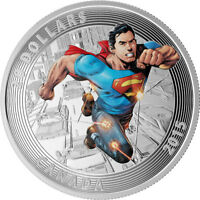 "2015 ROYAL CANADIAN MINT ""SUPERMAN, ACTION COMICS #1"" $20 FINE SILVER COIN"