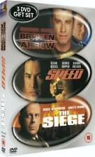 DVD BOX SET:  BROKEN ARROW (TRAVOLTA)! - SPEED (BULLOCK)! - THE SIEGE (WILLIS)!