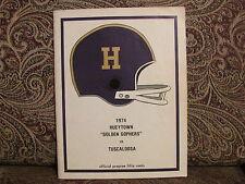1974 Hueytown Alabama High School Football Program,  Band, Cheerleaders,