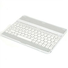 For iPad 2 3 4 Aluminum Ultra Thin Bluetooth Wireless KeyBoard Stand Case White