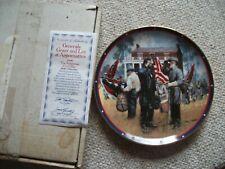 1989 Generals Grant & Lee @ Appomattox Hamilton Collector Plate by Don Prechtel