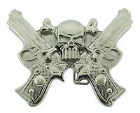 Skull Crossguns Belt Buckles gothic tribal mens western metal fashion cowboy new