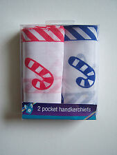 CHRISTMAS HANDKERCHIEFS CANDY CANE