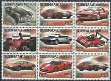Timbres Voitures Ferrari Surinam 1909/16 ** année 2007 (31053) - cote : 23 €