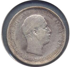 1901 Crete 2 Two Drachmai - F+