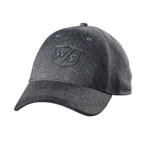 New Wilson Staff One Touch Hat/Cap Charcoal Adjustable