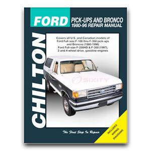 Chilton Repair Manual for 1980-1996 Ford F-150 - Shop Service Garage Book cb