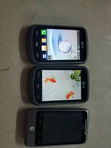 LG 306G Black TracFone Smartphone/Cell Phone LG306G and a HTC phone PARTS