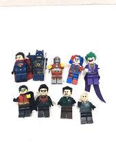 LEGO DC Super Heroes Superman, Batman, Joker, Harley Quinn Lot Of 10 Mini Figure