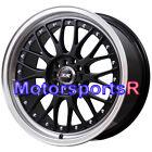 XXR 521 17 x 7 Black Machine Lip Mesh Rims Wheels 4x100 06 07 16 Mini Cooper S