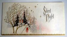 beautiful vintage christmas card photo holder silent night photocraft - Photo Holder Christmas Cards